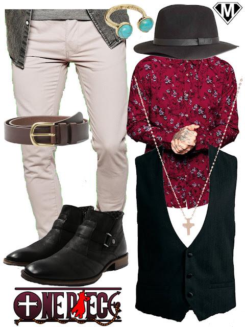 one piece dracule mihawk tenue outfit
