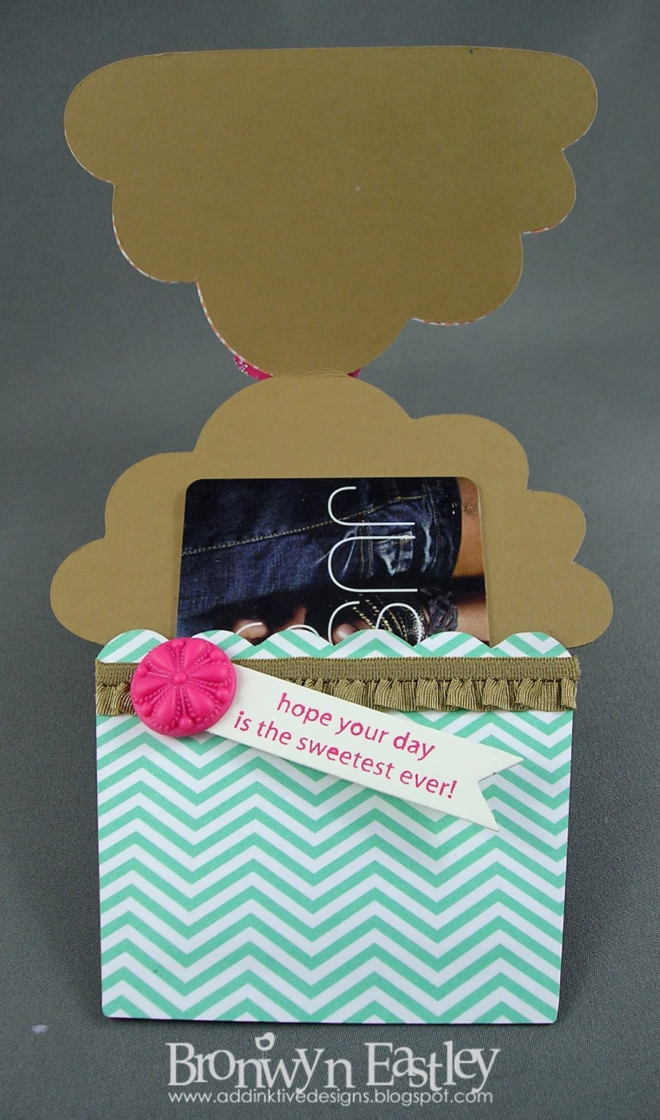 addINKtive designs at blogger: Birthday Cupcake Gift Card Holder