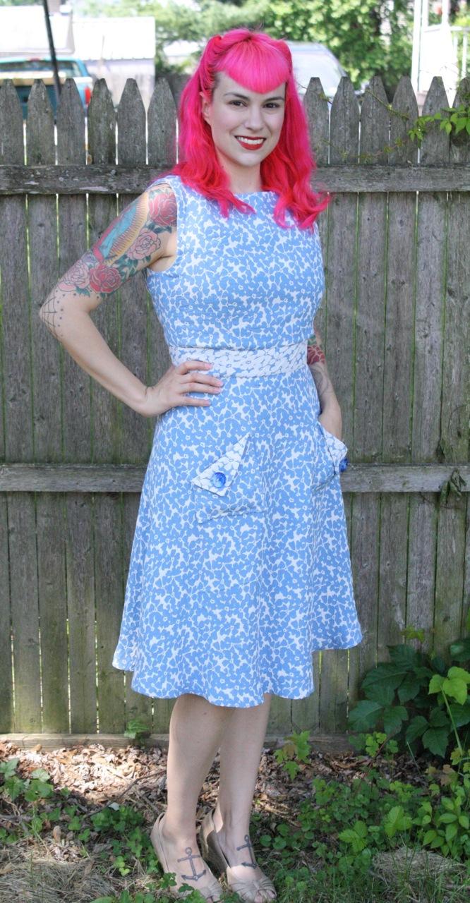 Wedding Gown Patterns Vogue 44 Trend Blue Brocade Day Dress