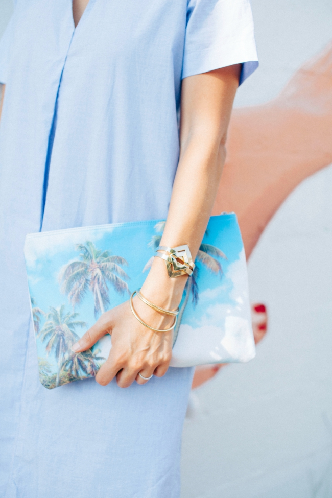 palm tree clutch, madewell clutch