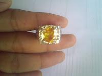 Batu Permata Citrine Kuning