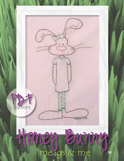 meags and me Spring Stitchery Patterns- Honey Bunny