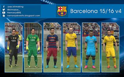 PES 2016 Barcelona 2015/16 GDB Update 4 by Nemanja