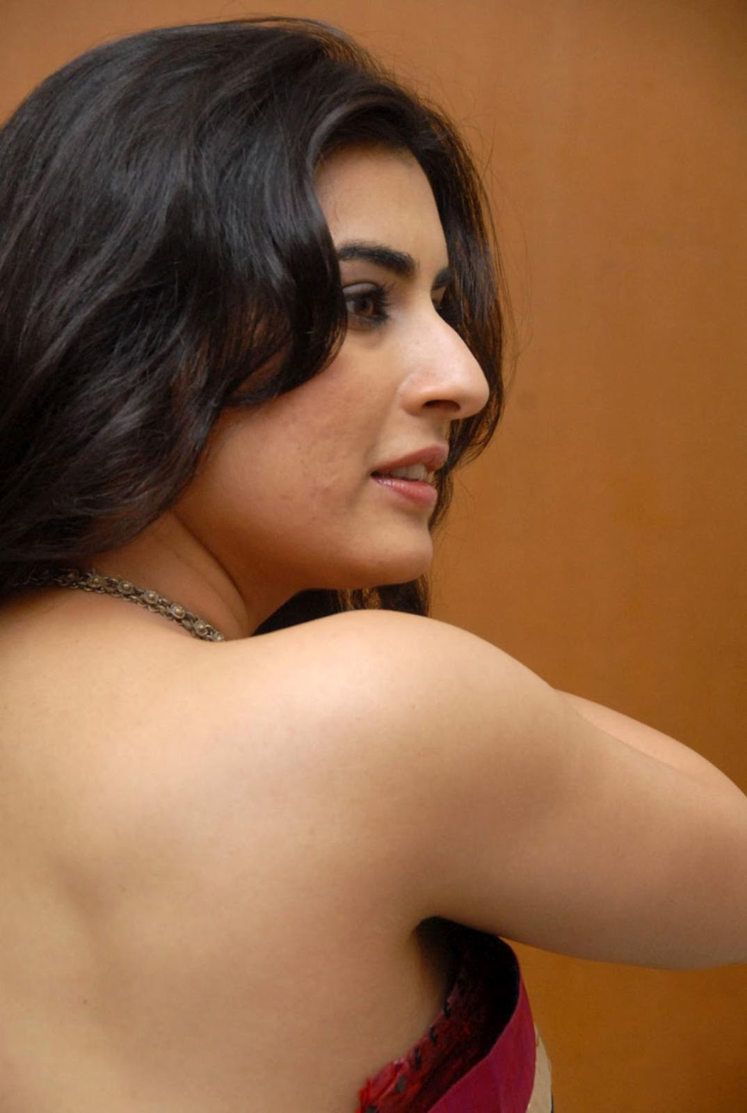 Veda new saree stills, Telugu actress Veda transparent saree photos, actress Veda in without blouse photos, Telugu actress Archana Veda without blouse hot saree stills, Veda in backless saree picture gallery.