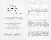 Bidprentje oud-strijder/vuurkruiser Joseph-Frans Moermans 1894-1997