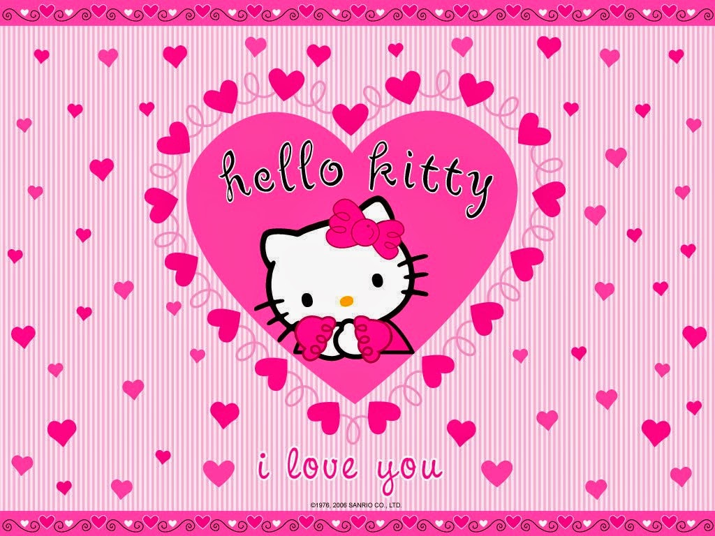 wallpaper keren anak perempuan hello kitty
