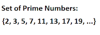 Definition Of Prime Numbers and Set Of Prime Numbers