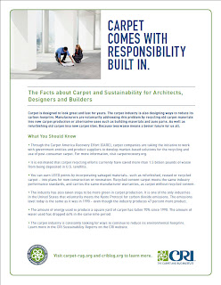 Architect, Designer & Builder Carpet Sustainability Facts