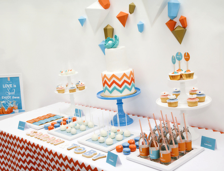 elements of design unity chevron party
