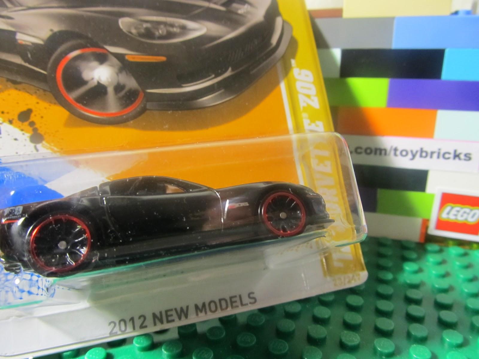 Hot Wheels 2012 Black Chevy Corvette Z06 Diecast Vehicle 1 64 Brand