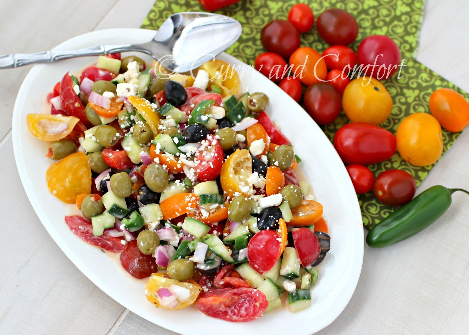 Kitchen Simmer: Greek Tomato and Feta Salad