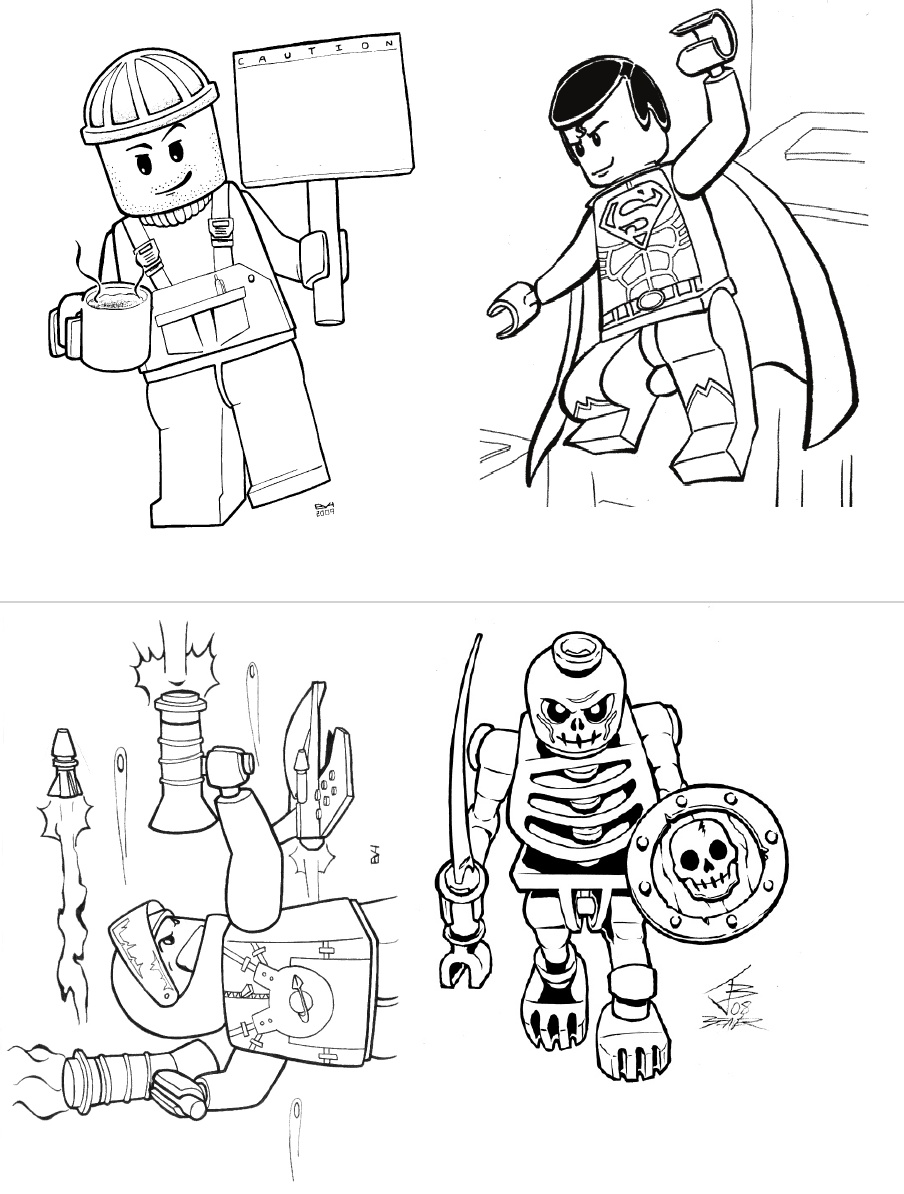super heroes lego coloring pages - photo#10