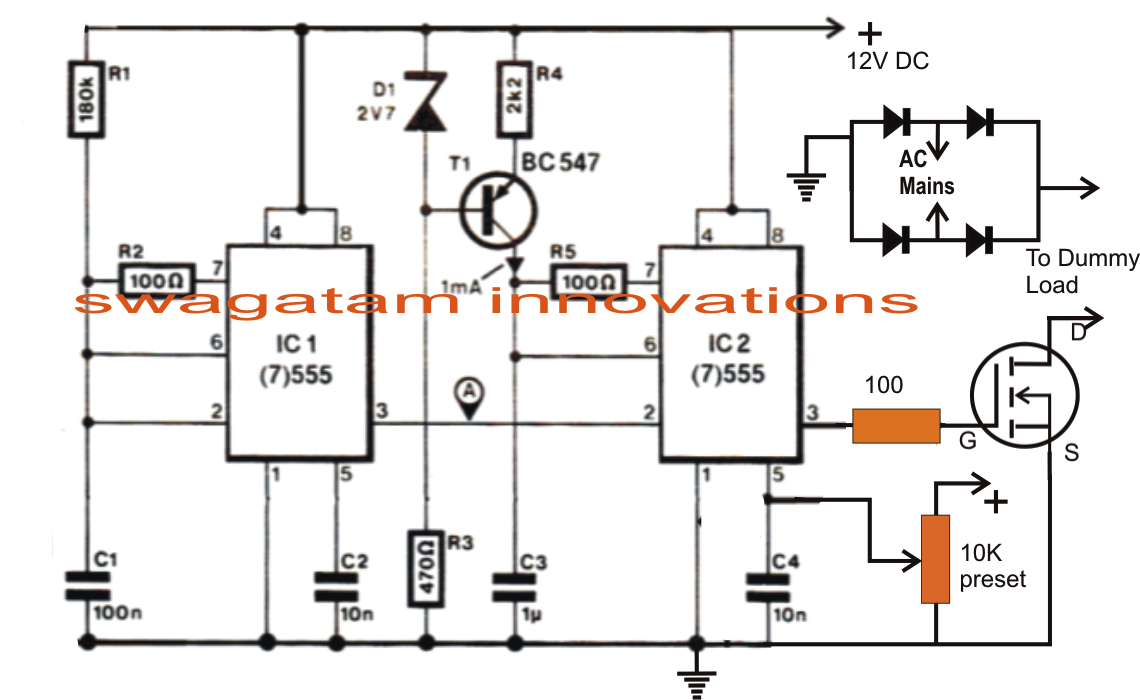 pwm motor speed controller circuit using ic556