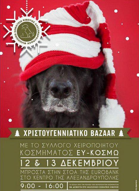 Χριστουγεννιάτικο bazaar του Φιλοζωικού Σωματείου Κιβωτός