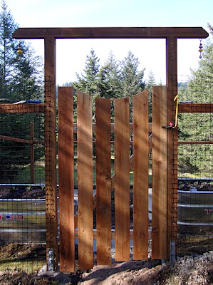 deer-proof garden fence, gate