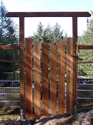 deer-proof garden fence, gate
