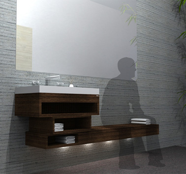 Мебель для ванной комнаты The Shifted Boo от Lawrence Rocha