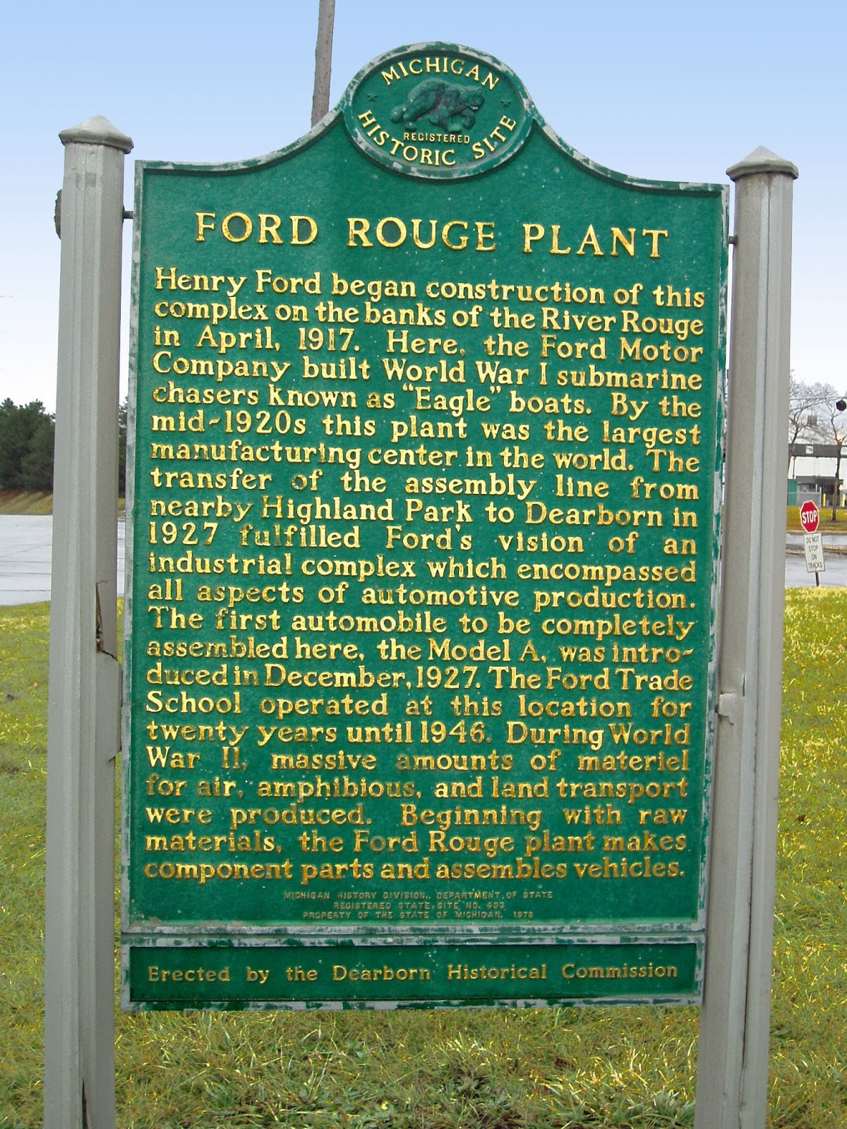 Ford Rouge Tour Parking