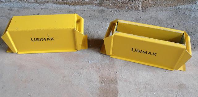 forma manual para blocos e canaletas usimak