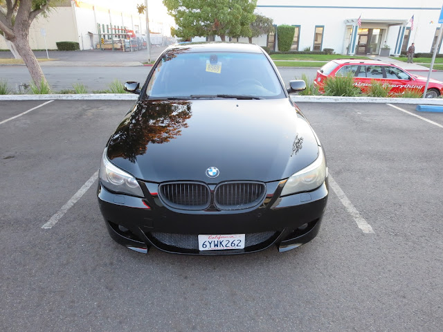 Keyed BMW 545i after repaint at Almost Everything Auto Body
