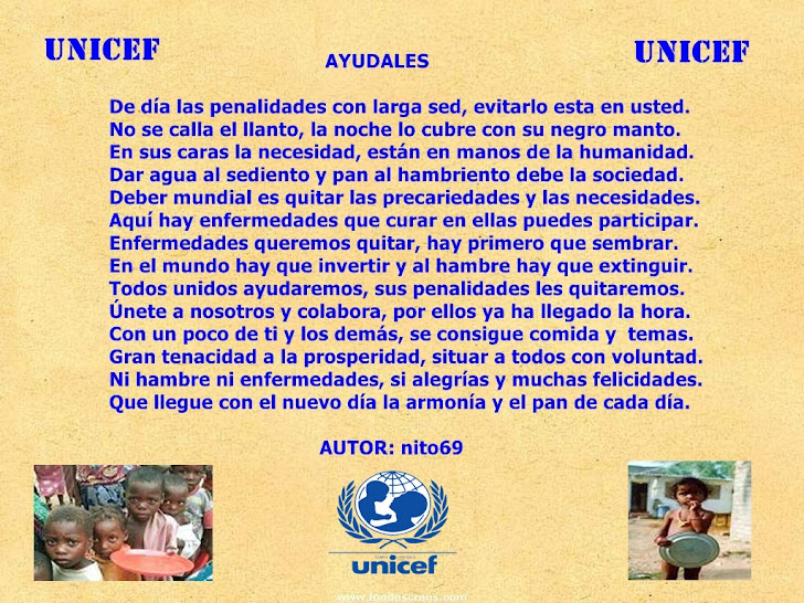 AYUDALES  ( UNICEF )