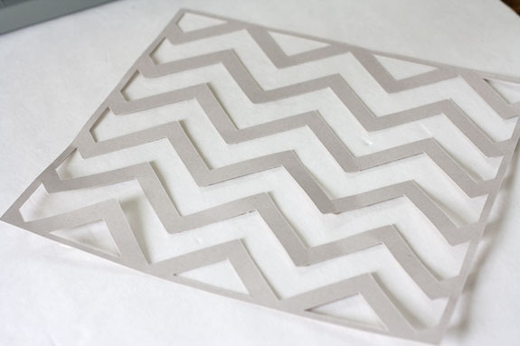 chevron template for painting - make it chevron photo frame with free printable the