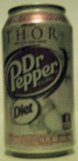 Right side of Diet Dr Pepper Sif can