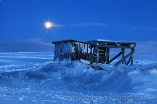 Полярным вечером. Остров Вайгач. Ненецкий автономный округ. Природа НАО.