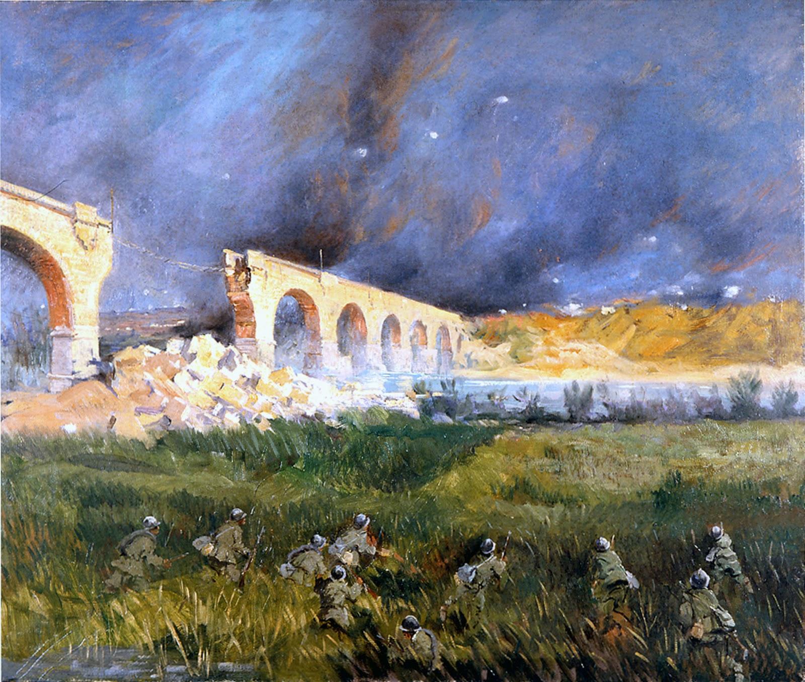 Italico  rass Ponte Peuma bombardato