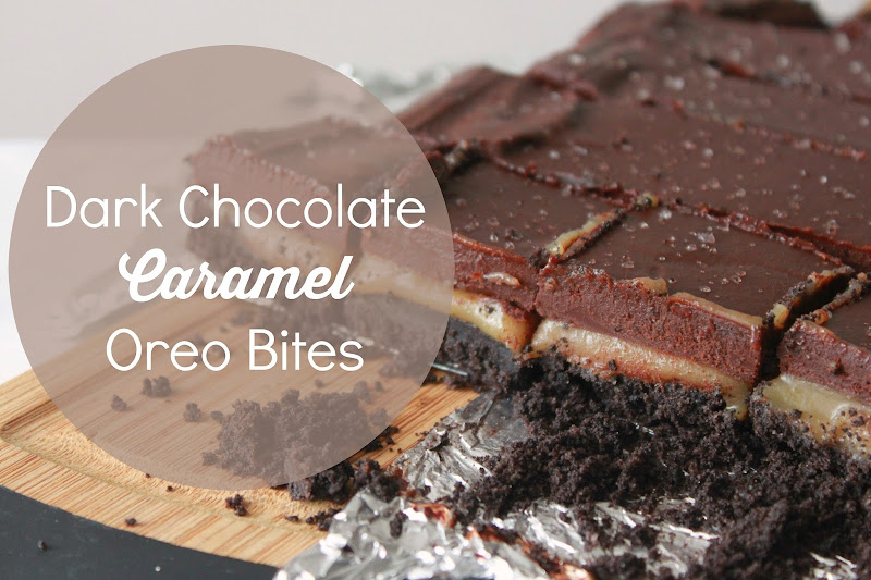 Dark Chocolate Caramel Oreo Bites