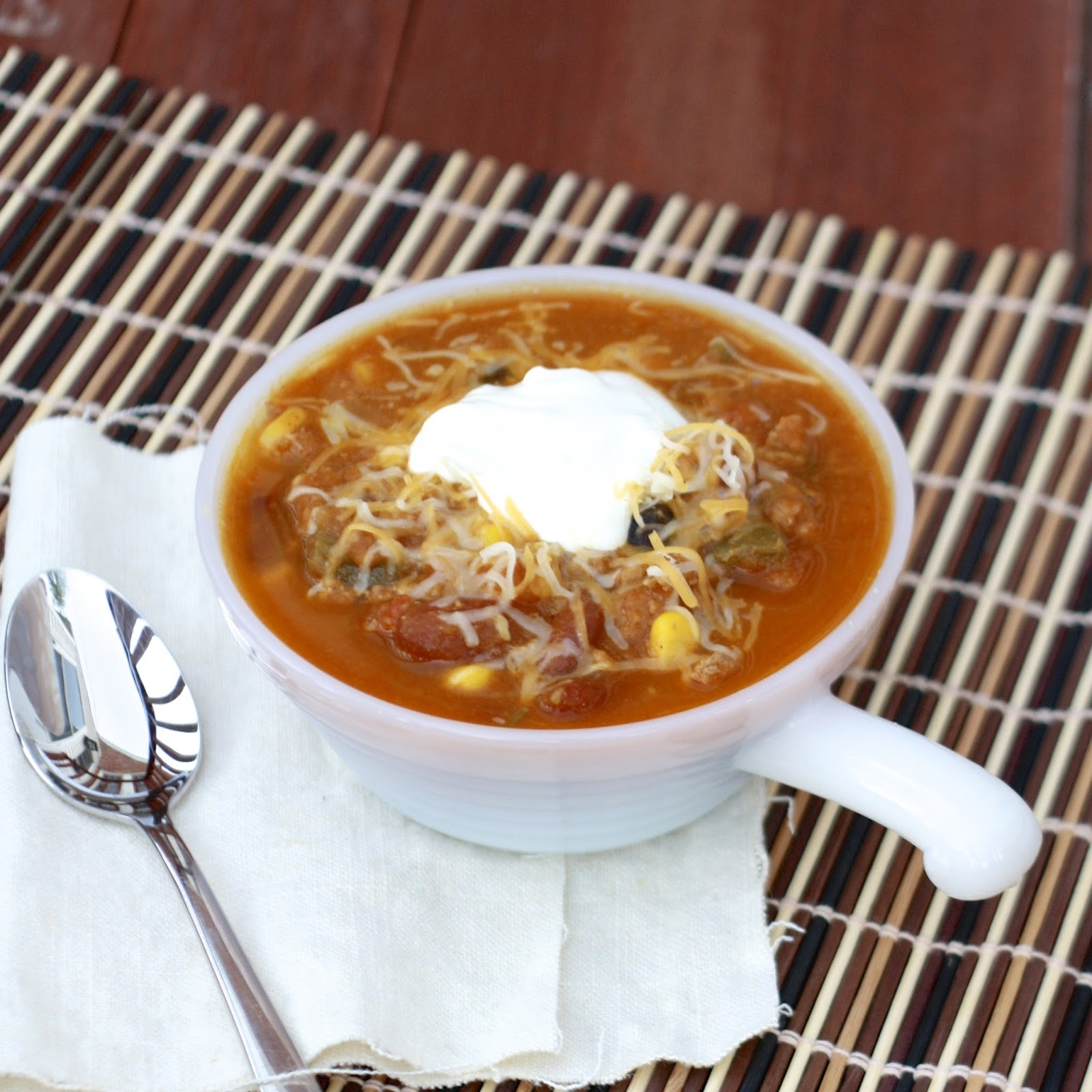 Turkey Pumpkin Chili | The Sweets Life