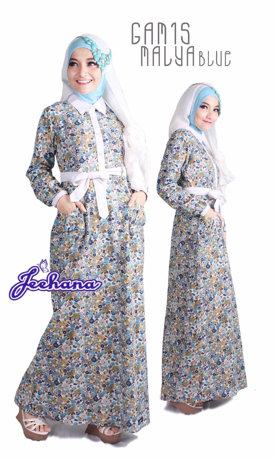 Baju Muslim Terbaru 2017 Online Gamis Cantik Malya Jeehana