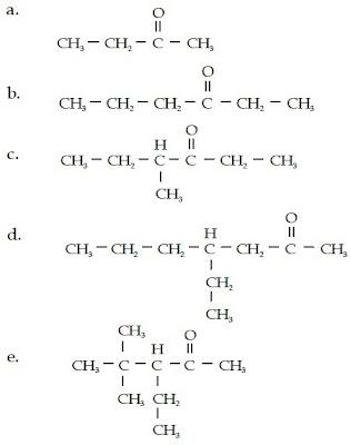 2-butanon 3-heksanon 4-metil 4-etil 2-heptanon 3-etil-4,4-dimetil