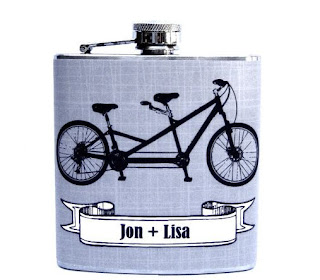 Ma Bicyclette: Buy Handmade | Whimsy and Ink Hip Flasks - Bicycle Hip Flask