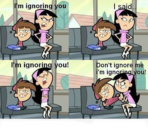GIRLS WHEN THEY IGNORE BOYS!