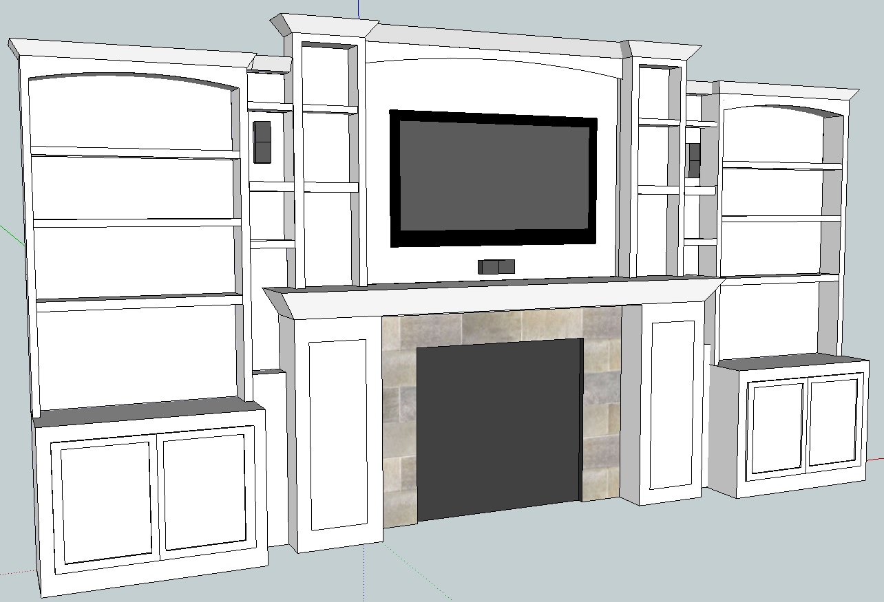 Home theater update built in cabinets 3d model all apple all day - Home theatre cabinet designs ...