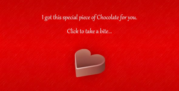 Happy Valentine's Day Chocolate Wishing Wallpaper