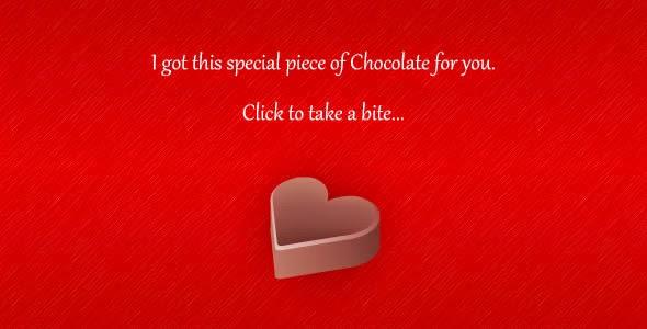 Happy Valentine's Day Chocolate Wishing Wallpaper