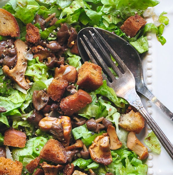 Fried Eggs With Greens And Mushrooms Recipe — Dishmaps