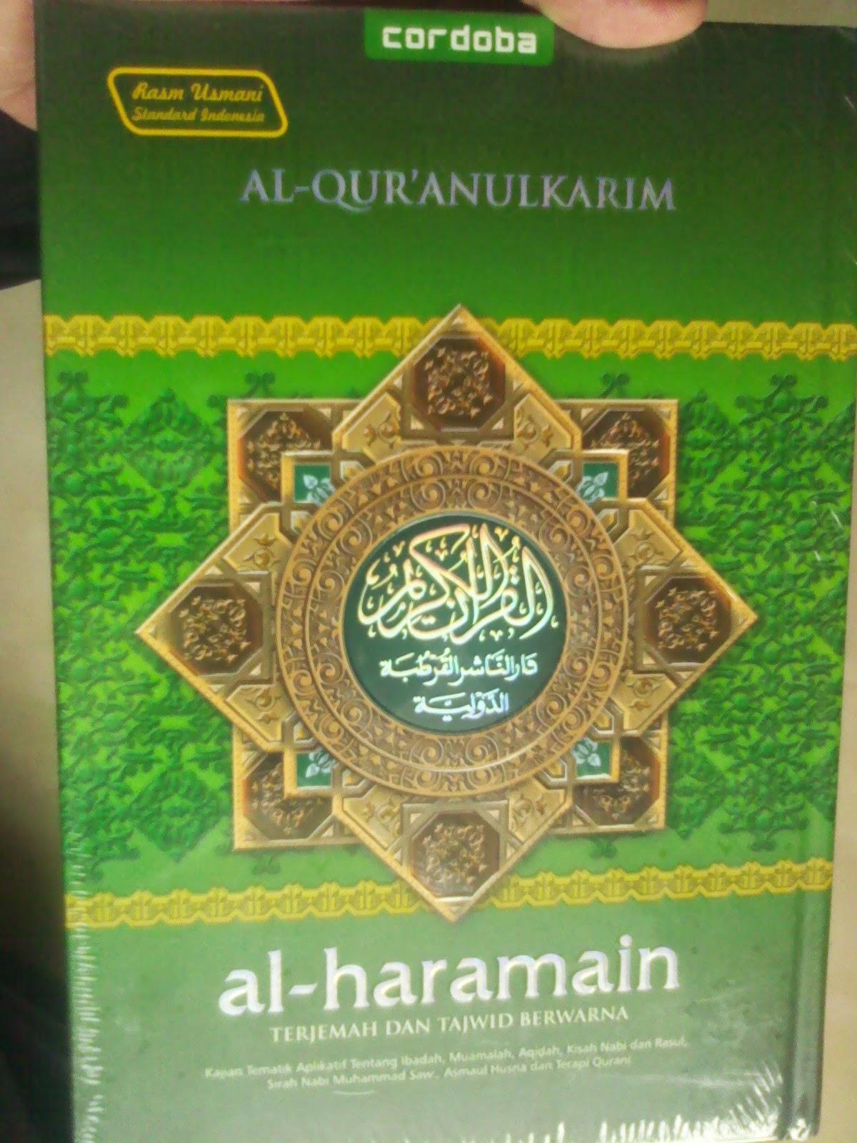 al quran cordoba al haramain al quran terjemah dan tajwid murah