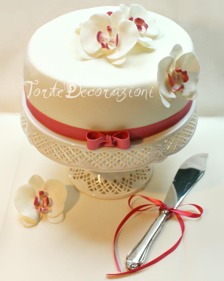 Torte e decorazioni torta con orchidee per il mio compleanno for Pasta di zucchero decorazioni