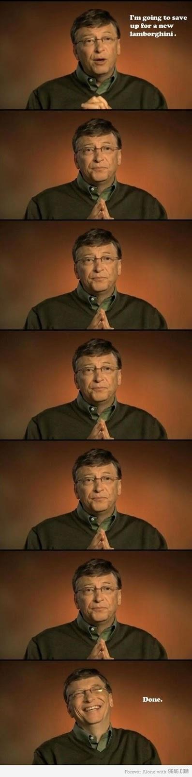 比爾蓋茲 存錢