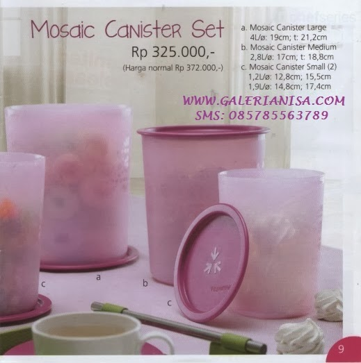 Tupperware Promo November 2013 Mosaic Canister Set