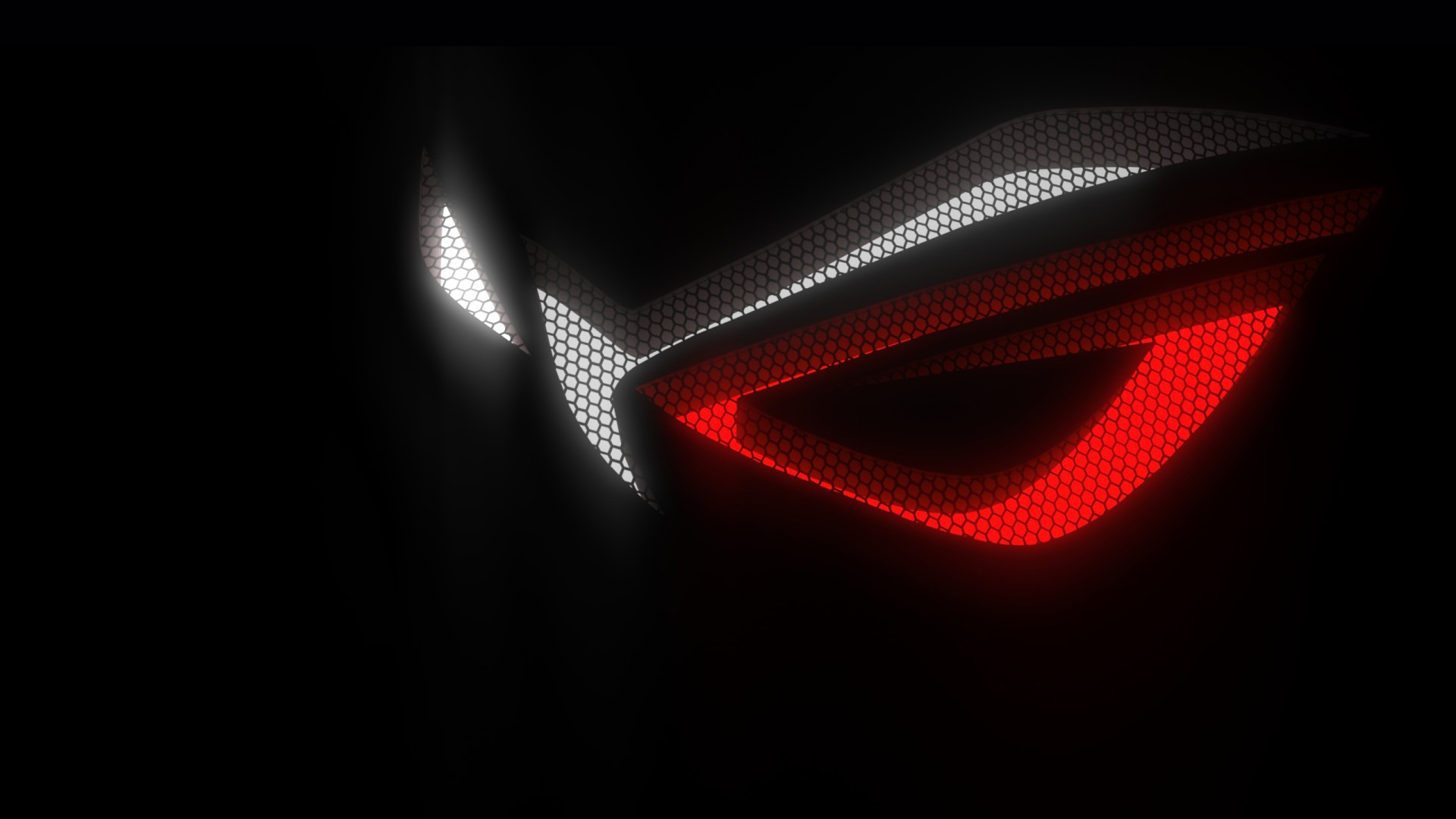 Asus Rog Republic Of Gamers Logo Hex Background