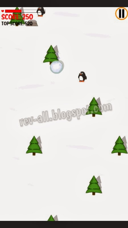 mulai bermain menemukan jalan untuk bola salju