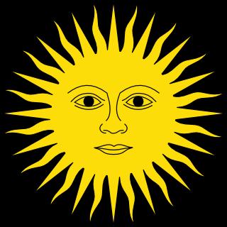 dibujo herÁldico sol de mayo