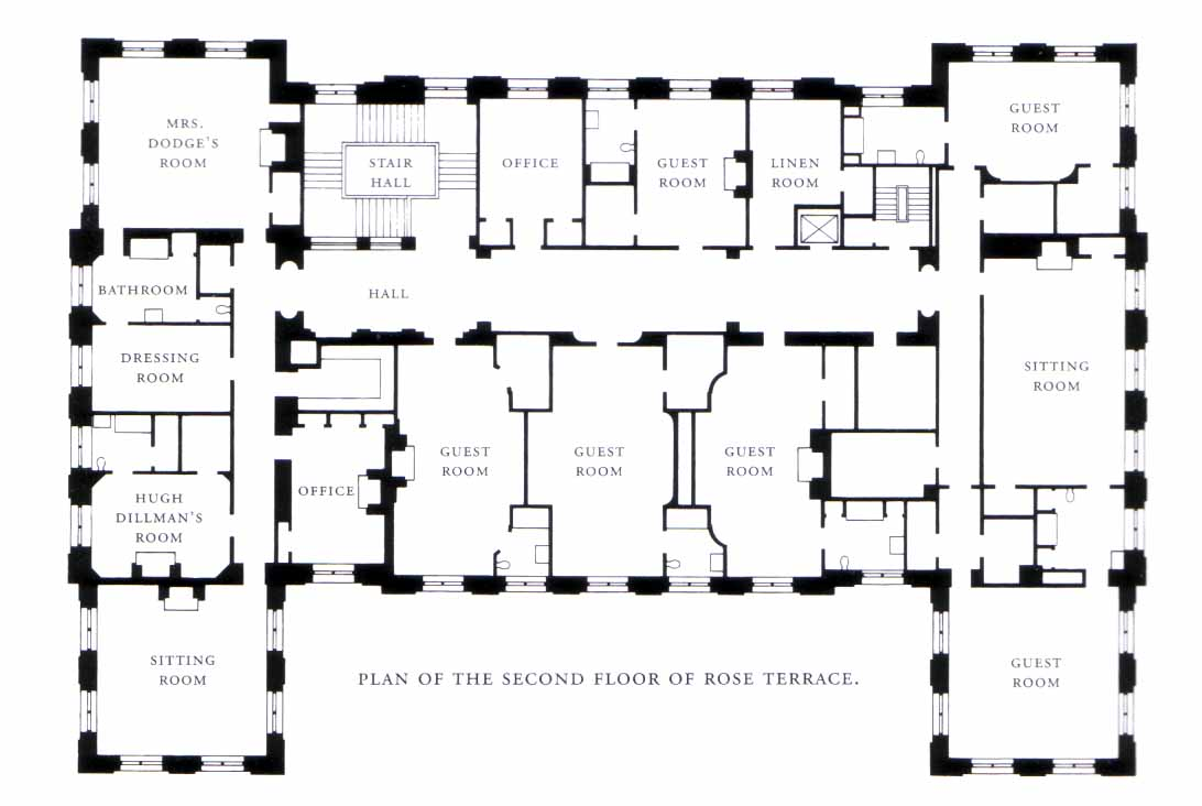 Architect design trumbauer 39 s swan song for 2nd floor house plan