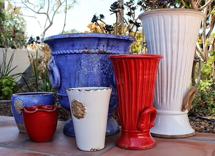 The Pottery May Be Italian But The Spirit Is All American. Celebrate The  4th With These Beautiful Rustic Garden Pots From Italy.
