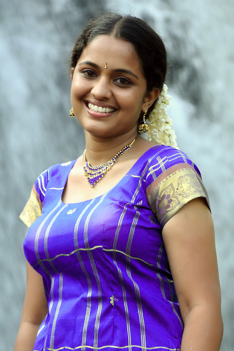 Cute Tamil Girl In Violet Color Blouse And Skirt Homely Girl And Models Photos