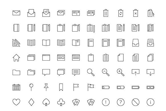 Linea Free Outline Icons PSD